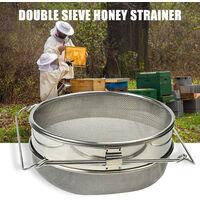 strumenti di apicoltura, in acciaio inox doppio filtro miele