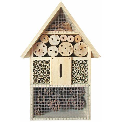 Insetti hotel coleotteri nidi di covata api box house natura pino bambù pino
