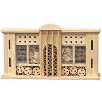Insetti hotel coleotteri nidi di covata api box house natura pino bambù legno di pino
