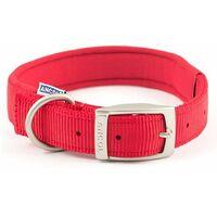 "696120 - Heritage Nylon Padded Collar Red 55cm/22Sz6"""