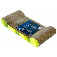 52417 - Patterned Scratching Board with Catnip: Lounge - Jungle Stripes