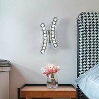 Goeco Lampe murale en cristal, applique murale intérieure, lampe murale pour chambre à coucher, chevet, escalier, couloir, fond 18 W
