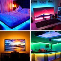 Goeco Ruban LED 3M Bande RGB avec Télécommande à 44 Touches, 5050 5V USB Bande Lumineuse Multicolore Rétroéclairage LED TV