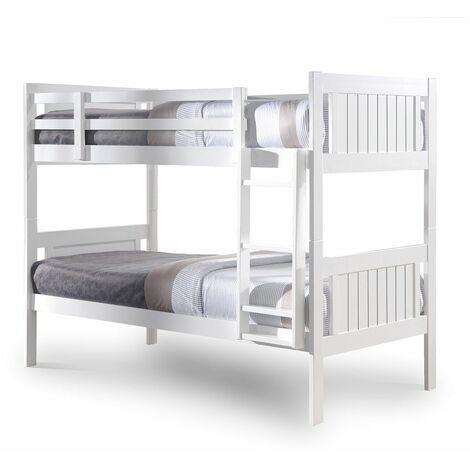 Glory White 3FT Single Wooden Bunk Bed (Frame Only)