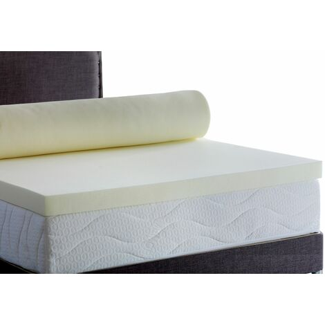 Memory Foam Mattress Topper 5000, 2 inch - Without Cover, 3FT Single