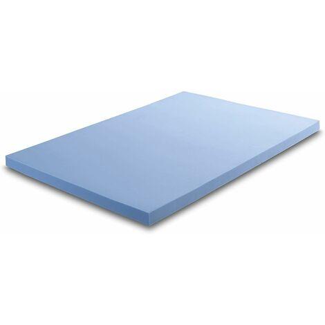 Cool Blue Hybrid Memory Foam Orthopaedic Mattress Topper, 2.5cm Thick - 3FT Single