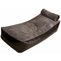 Sun Bed Bean Bag with Beans Filling - Grey/Ivory