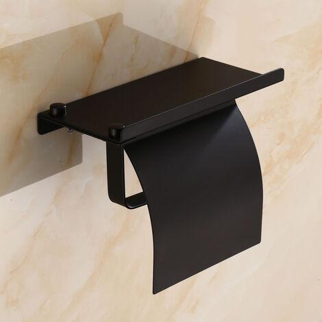 Porte Papier Toilette , Support Papier Toilettes pour Salle de Bain et Cuisine, Acier Inox, Porte Rouleau Toilette Pas de Forage et fixé au mur.