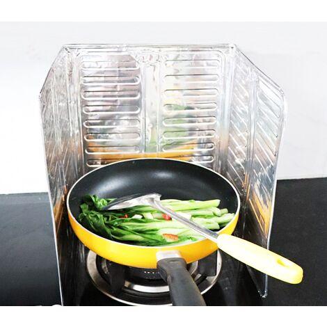 Cuisinière de cuisine pliante Plaques ,en aluminium Plaques anti-éclaboussures antiadhésives Protecteur de plaque de déflecteur d'huile, garde les surfaces de cuisson, les comptoirs, la cuisinière