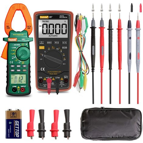 Multimètre Numérique Professionnel, Voltmètre numérique, Automatique Mesure et Manuel.