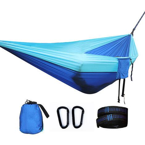 Hamac de Voyage Camping, Hamac 2 Places ou Simple , Hamac Suspendu, Hamac Ultra-léger, Hamacs de jardin, Kit de Survie, Sac à Dos, Hamac de Camping