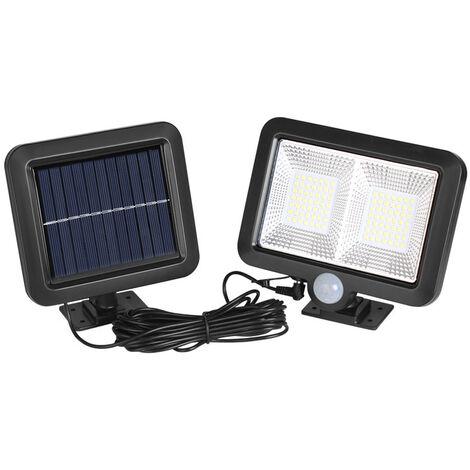 Lampe Solaire Extérieur, 98 LED Détecteur de Mouvement éclairage Solaire Extérieur étanche Sans Fil Spot Solaire Lumière Puissant Sécurité pour Jardin, Clôture, Porte, Cour ou Entrée.