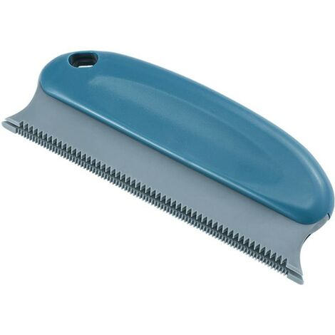 Brosse pour épiler les poils pour animaux domestiques ; épilateur de poils de chat ; épilateur professionnel pour canapé, meubles, moquette, vêtements, couvertures, voiture, lit (Bleu cycle)