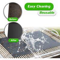 Tapis de grill, facile à nettoyer et réutilisable, accessoire de barbecue électrique, idéal pour barbecue, cuisson et four, 40 x 40 cm, (noir)