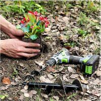 Mèche Jardin Tarière 80 et 40 mm 2 Pièces, Forets de Jardin en Spirale, Outil de Plantation Pratique pour Faire Rapidement Trou et Planter des Fleurs Arbres Arbustes.