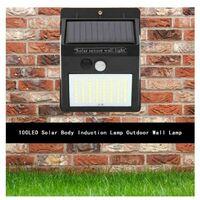 4*Lampe Solaire Extérieur, Lumière Solaire Etanche éclairage Solaire ,avec Détecteur de Mouvement Lampe, de Sécurité sans Fil lampe mural pour Jardin.
