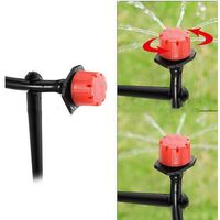 Kit d'irrigation Goutte, Kit Micro Irrigation Goutte à Goutte Jardin Système d'Arrosage Micro Flow Automatique pour Plante de Serre Plate-Bande avec Tuyaux de Distribution Réglables