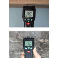 Humidimètre, Testeur d'Humidité du Bois avec 7 Modes, Fonction de Maintien de Données, Plantes, Ciment, Plage 0.0% ~ 60.0%, Rétroéclairage LCD