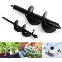 2 pièces de forets de jardin 4*22+8*30+ gants, peuvent perforer les plantes, les arbres, les arbustes, les fleurs de labour en profondeur, les bulbes miniatures