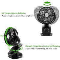 Ventilateur de Batterie à Pile,Ventilateur USB d'Oscillation Avec 5000mAH Batterie Rechargeable,Mini Ventilateur Portatif