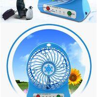 Ventilateur Batterie Ventilateur de Bureau Ventilateur Portable Silencieux USB Ventilateur Petit Ventilateur avec Batterie Rechargeable Ventilateur de Bureau (Bleu)