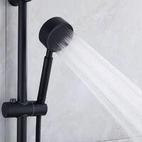 304 buse de douche en acier inoxydable bain pressurisé douche domestique pluie ensemble de tête unique pomme de douche noire pressurisée