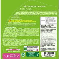 BHS DGP5 Desherbant Total Gazon   5 L   Soit 250 m²   Formulation Prête A L'Emploi   Fabriqué en France