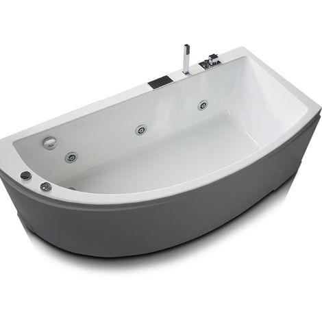 Vasca idromassaggio asimmetrica in acrilico con avviamento digitale Modello Neo