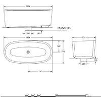 Vasca freestanding in Luxolid modello Marechiaro Tub. Linee tondeggianti, colore bianco