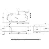 Vasca Idromassaggio Sonia 170x70 con accensione digitale Relax Idrosystem