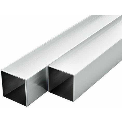 Tubos de aluminio cuadrados 6 unidades 2 m 30x30x2mm