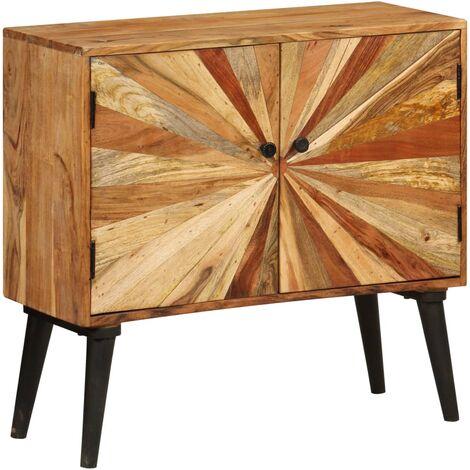 Aparador de madera de mango maciza 85x30x75 cm - Marrón