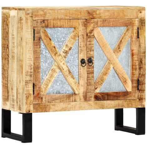 Aparador de madera de mango maciza 80x30x76 cm - Marrón