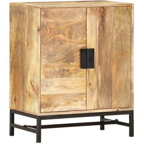 Aparador de madera maciza de mango 60x35x75 cm - Marrón
