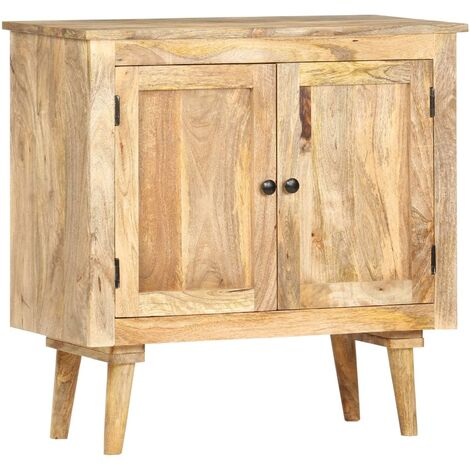 Aparador de madera maciza de mango 75x35x75 cm - Marrón