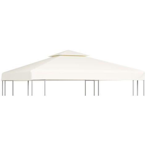 Cubierta de repuesto de cenador 310 g/m² blanco crema 3x3 m - Blanco