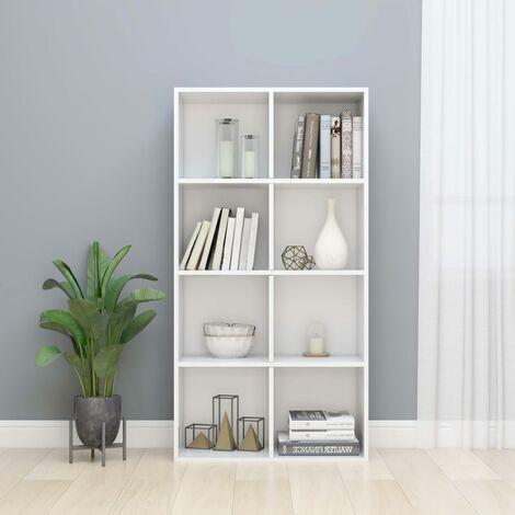 Estantería/Aparador aglomerado blanco con brillo 66x30x130 cm - Blanco