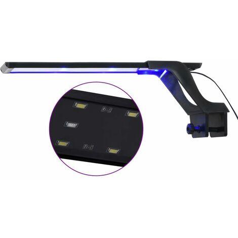 Luz LED para acuario con abrazadera azul y blanco 35-55 cm