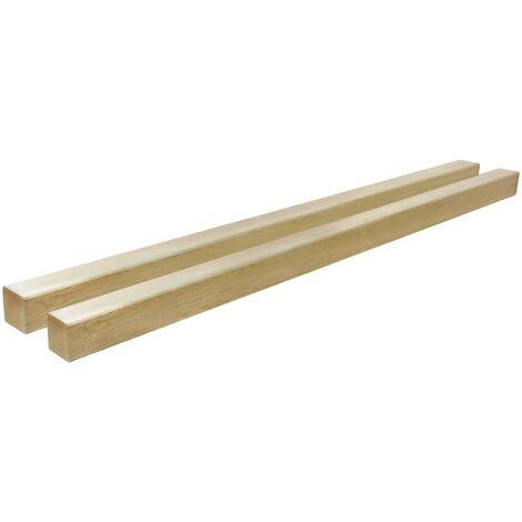 Postes de valla 2 unidades madera pino impregnada 9x9x150 cm - Marrón