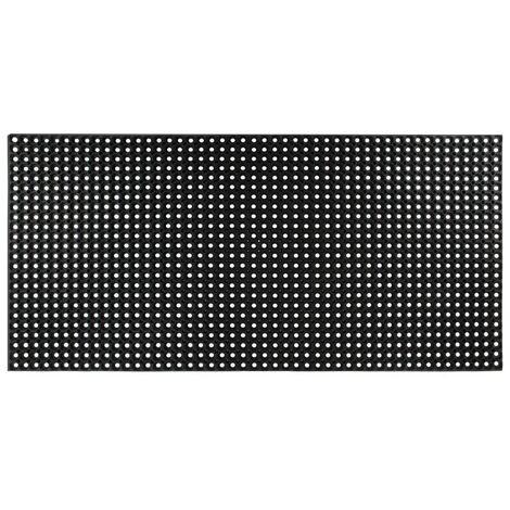 Felpudo de goma 16 mm 100x150 cm - Negro