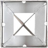 Picas de tierra 12 uds acero galvanizado plateado 9x9x90 cm