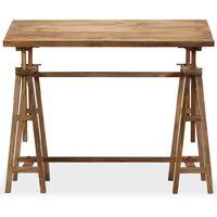 Mesa de dibujo de madera maciza de mango 116x50x76 cm - Marrón
