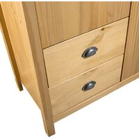 Armario de 2 puertas Hill Range madera pino 99x45x137 cm - Marrón