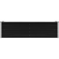 Arriate de acero galvanizado gris antracita 160x40x45 cm - Antracita