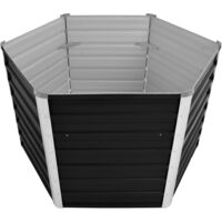Arriate de acero galvanizado gris antracita 129x129x77 cm - Antracita