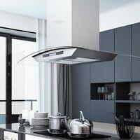 Campana extractora de techo 90 cm pantalla táctil 756 m³/h LED - Plateado