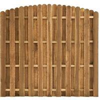 Panel de valla de jardín de madera de pino 180x(155-170) cm - Marrón