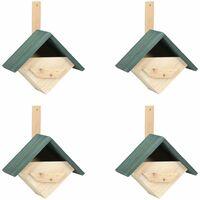Casa para pájaros 4 unidades madera de abeto 24x16x30 cm