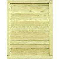 Puerta de valla de jardín madera pino impregnada 125x100 cm - Verde