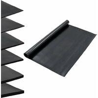 Alfombrilla de goma antideslizante 1,2x2 m 3 mm lisa - Negro